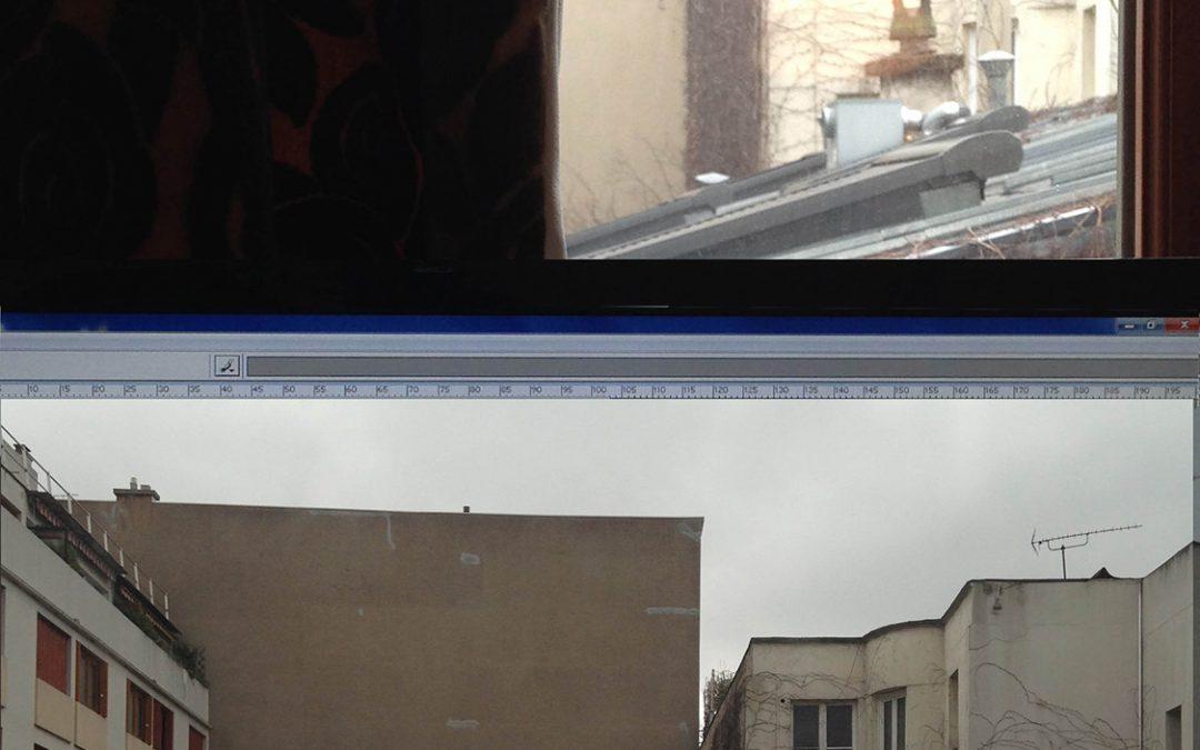 Mon ordi devant ma fenêtre